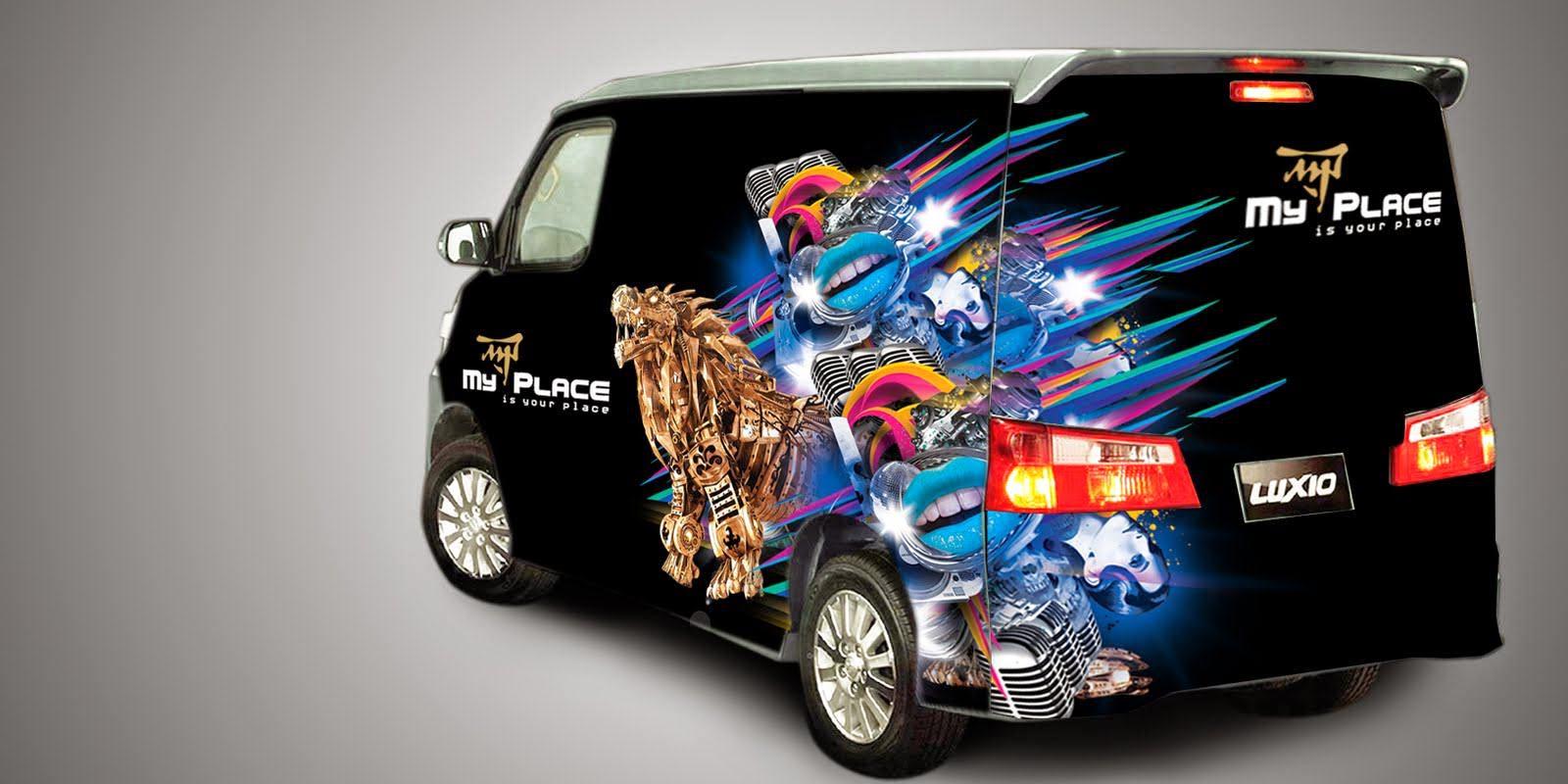 Gambar Cutting Sticker Mobil Luxio Duniaotto