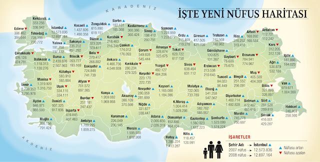 türkiye nüfus yogunlugu haritası
