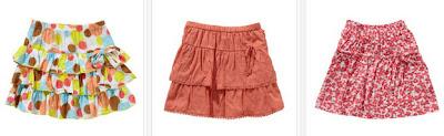 Faldas para niñas de 3 a 12 años de edad