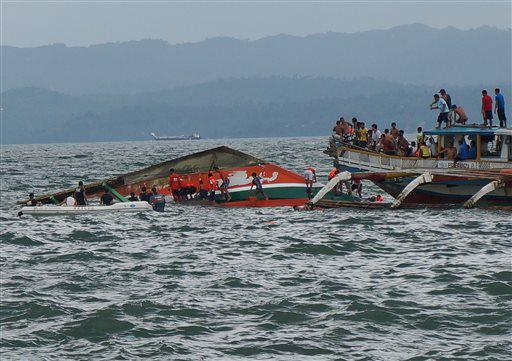motor banca with with 173 passengers capsized in Ormoc