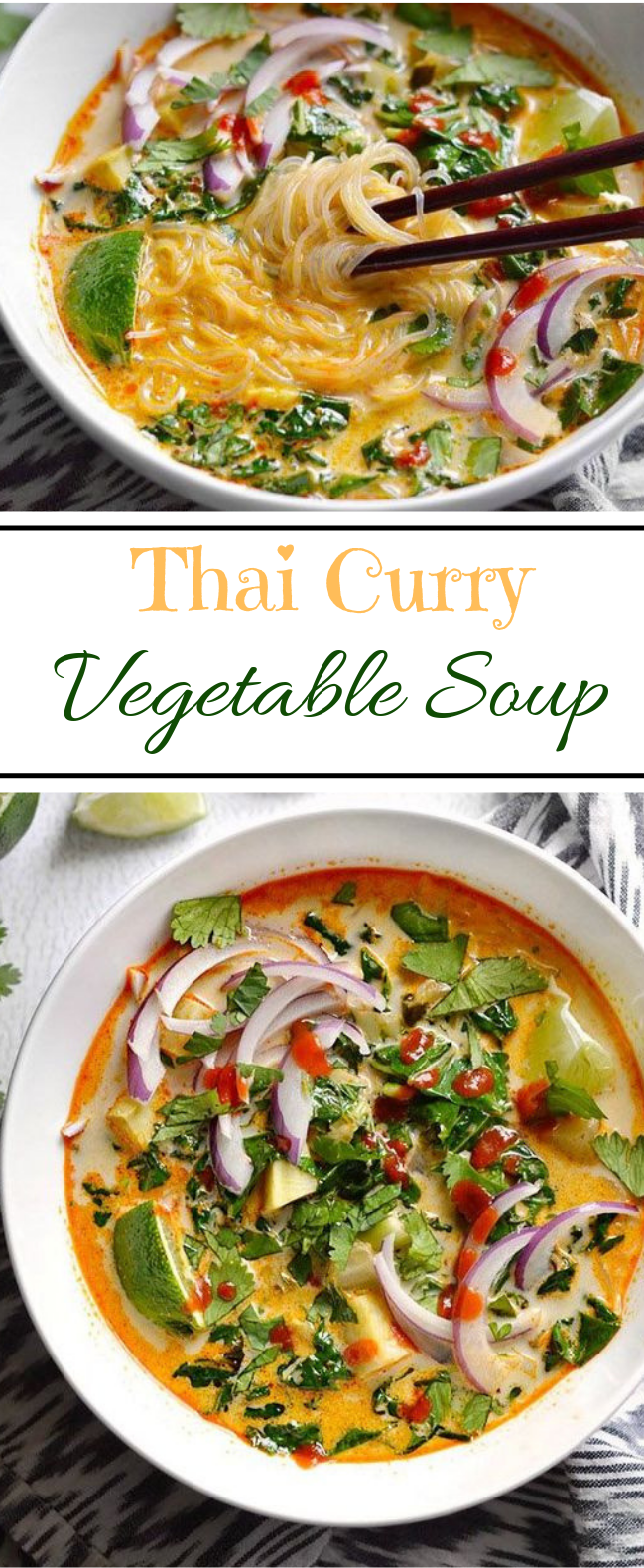 Thai Curry Vegetable Soup #soup #vegetarian