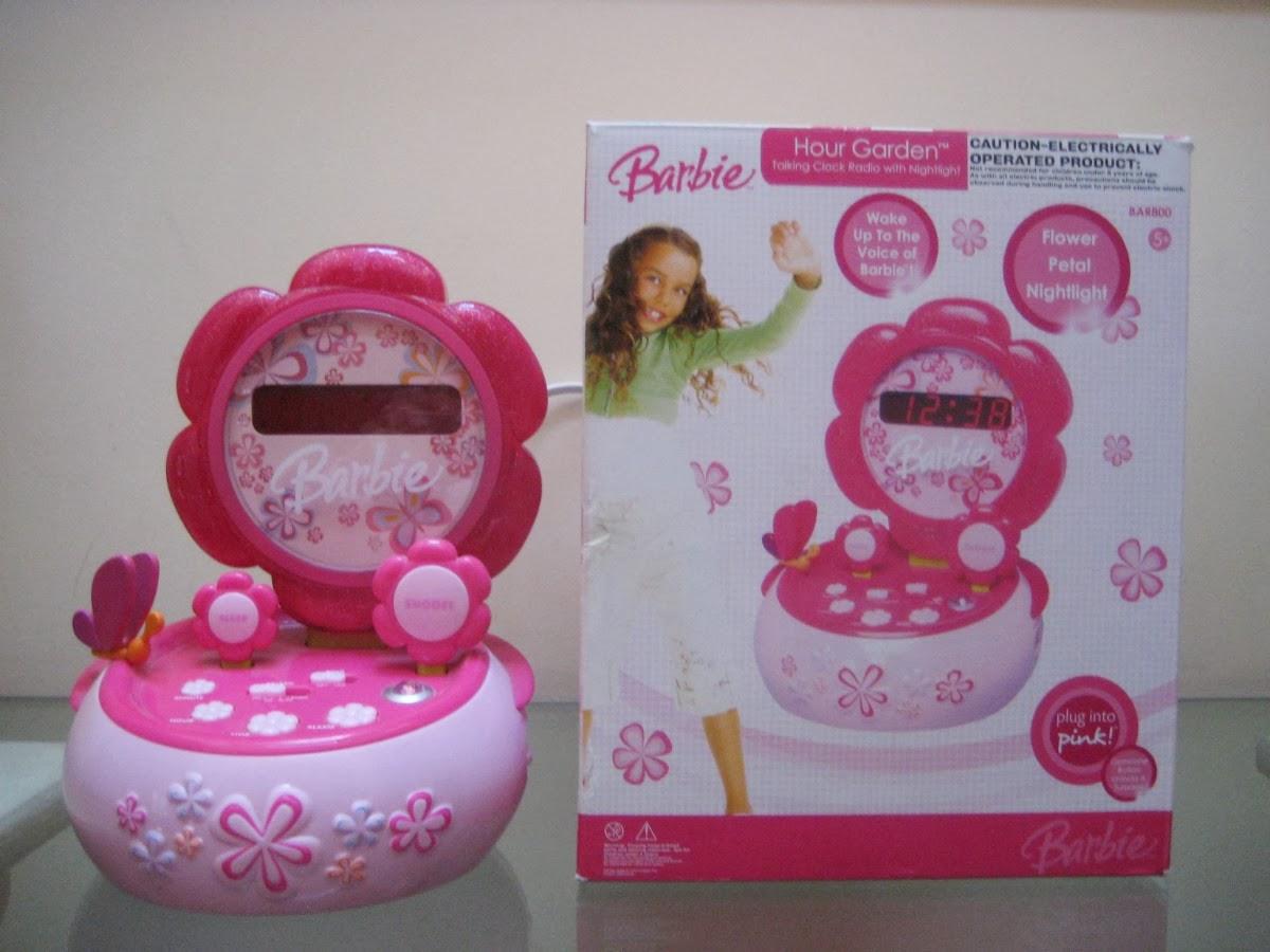 Barbie Alarm Clock Radio By Lexibook