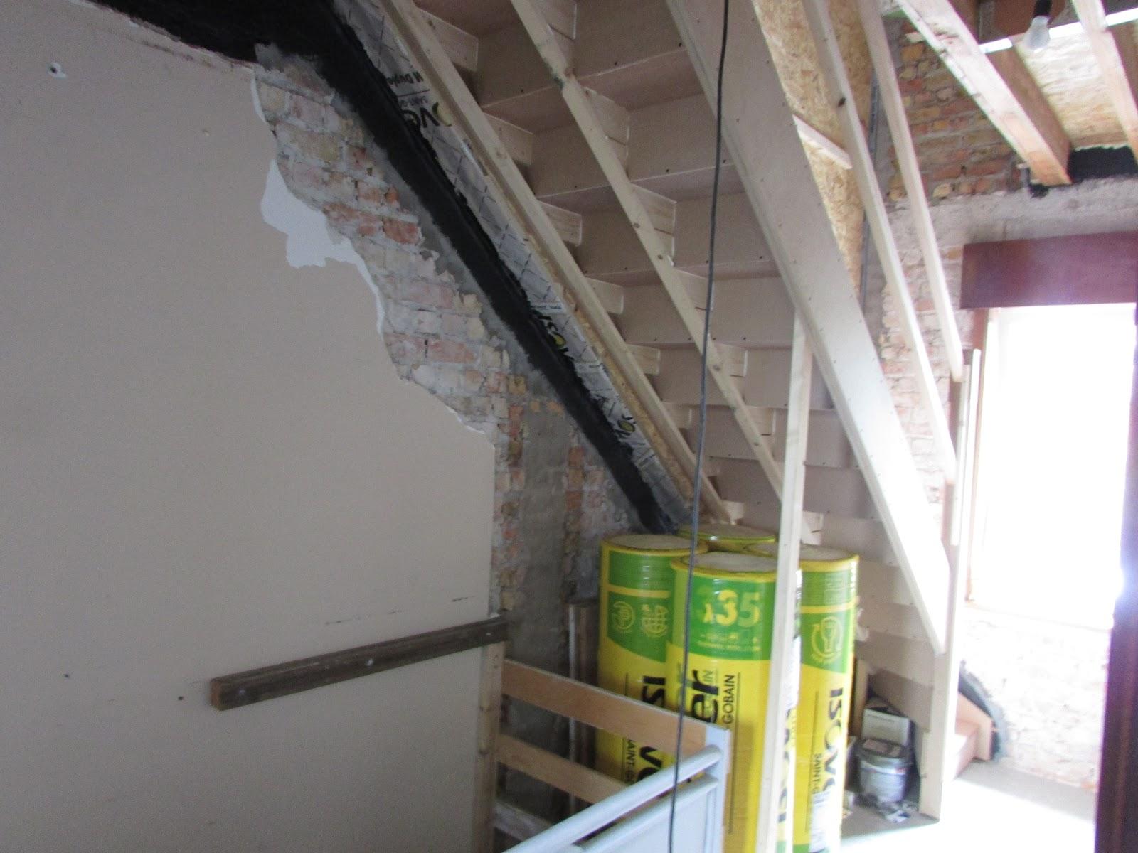 Verbouwing van ons ouderlijk huis trap naar zolder