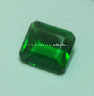 Batu Permata Green Tektite + Memo ZP - 412