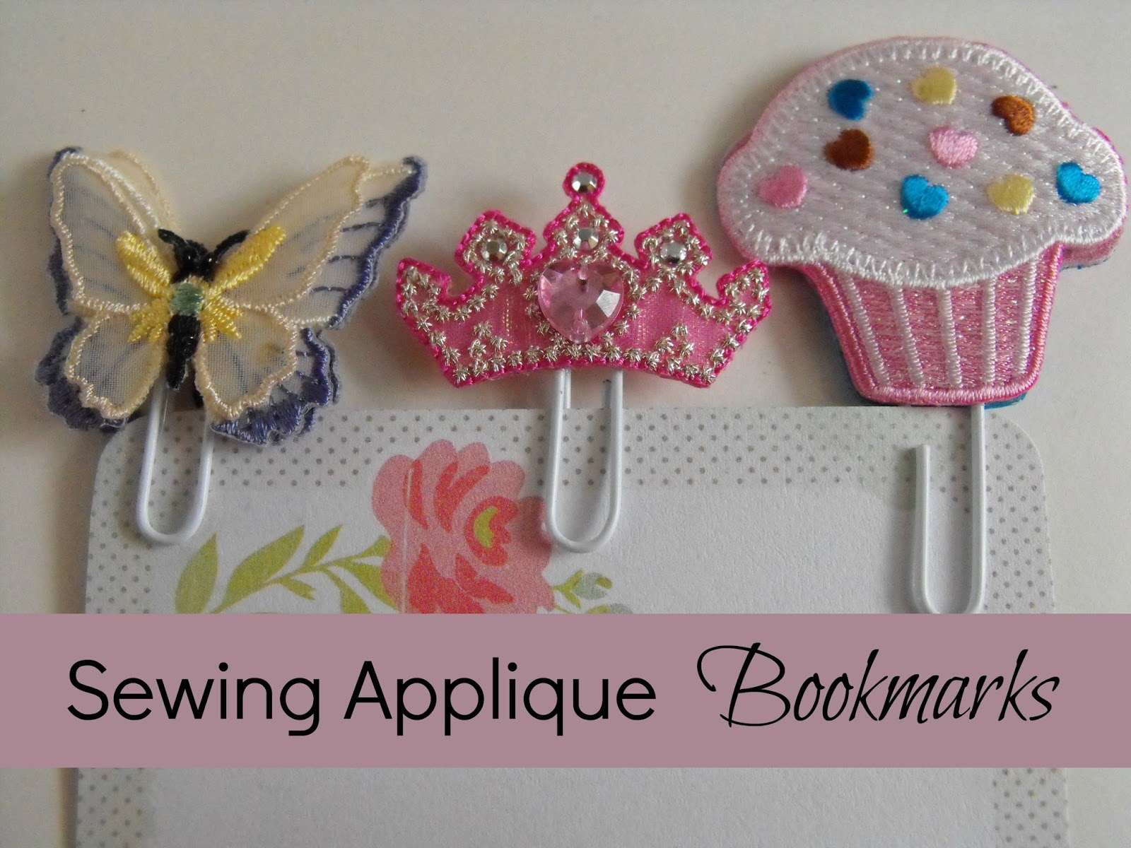 sewing applique planner bookmarks