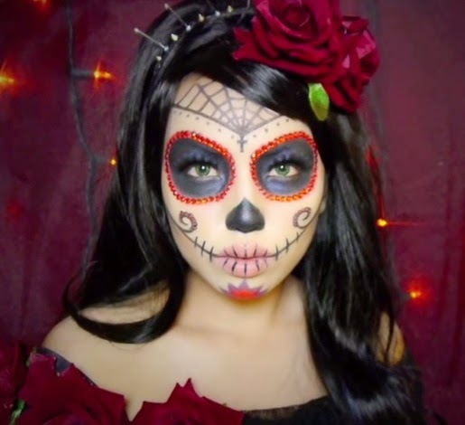 Halloween, trucco da Calavera (Sugar Skull)   Semplicemente