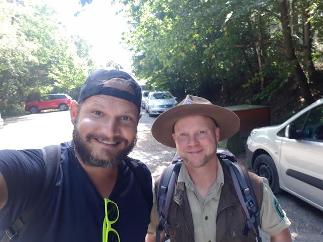 Ranger Sasha and The Social Traveler at Nationalpark Eifel