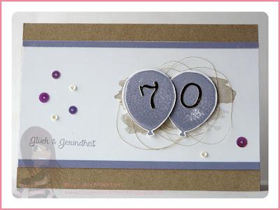 Stampin' Up! rosa Mädchen Kulmbach: Geburtstagskarte mit Partyballons und Perpetual Birthday Calendar