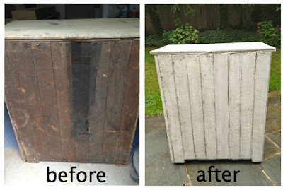 vintage storage cabinet back before and after