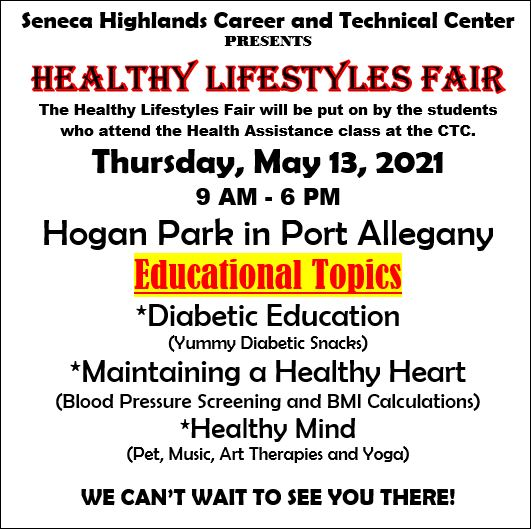 5-13 Healthy Lifestyles Fair, Port Allegany