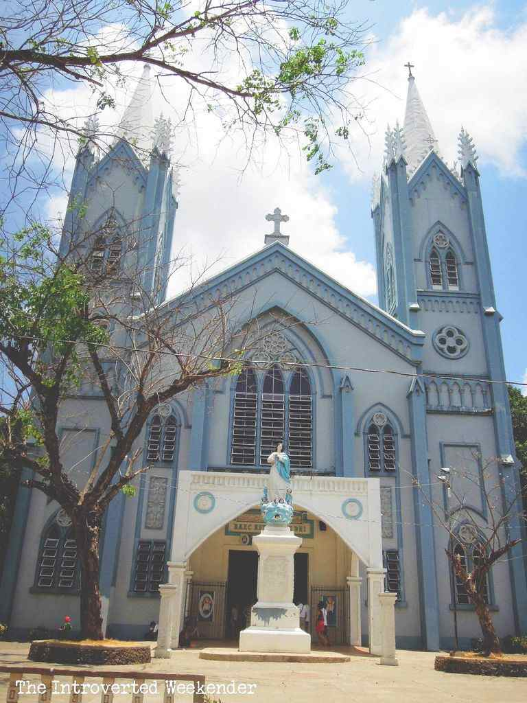 The facade of the Immaculate Conception Cathedral