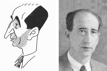 Caricatura y fotografía de Rafael Doménech