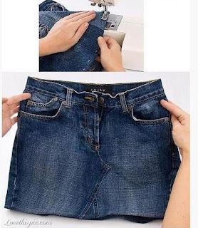 Kot Pantolondan Etek Yapımı