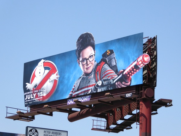 Ghostbusters Melissa McCarthy movie billboard