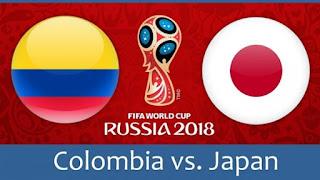 انتهت مباراه كولومبيا واليابان اليوم 19-6-2018 بنتيجه 2 - 1 لصالح اليابان