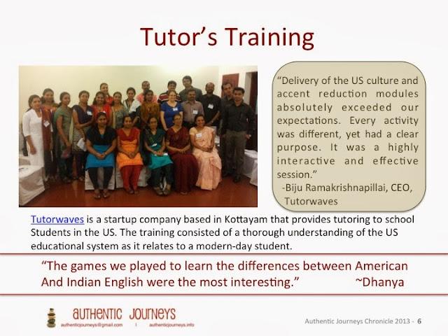 Training US facing virtual tutors in India