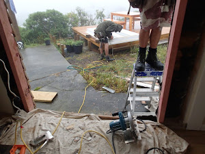 Thursday building work: rain, mist, hail later
