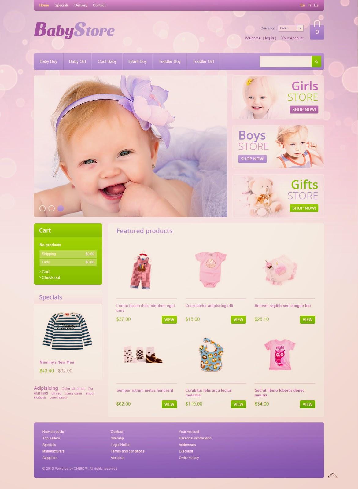 thiết kế web đồ mẹ và bé
