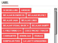 5 Langkah Mudah Membuat/Memasang Scroll Box pada Widget/Gadget Label/Kategori Blog
