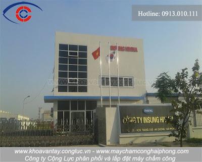 Phân phối và lắp đặt máy chấm công tại công ty INSUNG HIVINA, KCN Tràng Duệ, Hải Phòng.