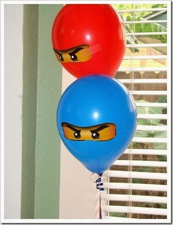 Lego Ninjago balloon party ideas.