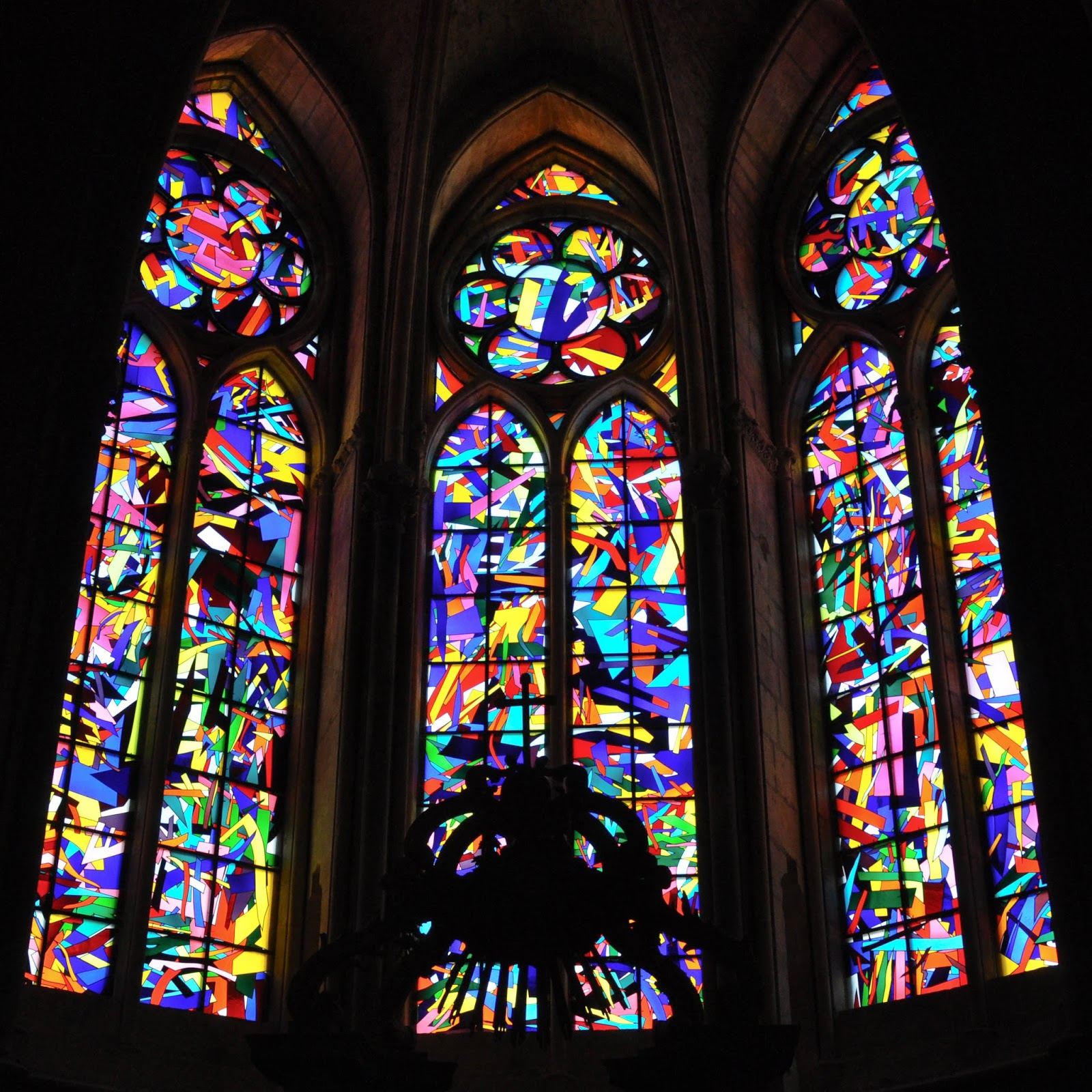 Stained glass windows, Reims Cathedral, Reims, France