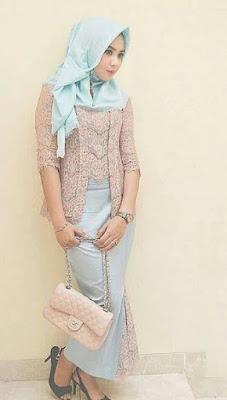 model kebaya batik untuk pesta wanita hijab