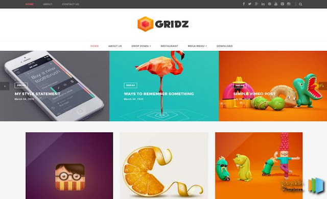 Gridz Blogger Template