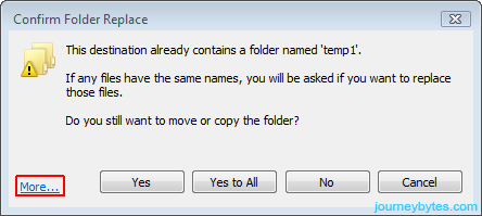 File Conflict Dialog