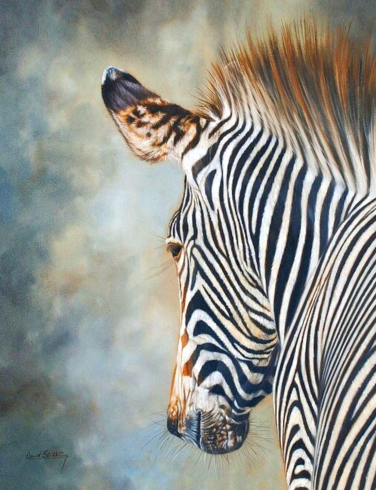 Cuadros modernos pinturas y dibujos pinturas de cebras - Cuadros de cebras ...