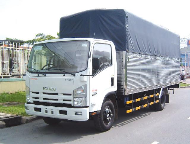 Xe tải Isuzu 5,2 Tấn có 2 loại: NQR75L thùng ngắn 5.8m và NQR75M thùng dài 6,2m
