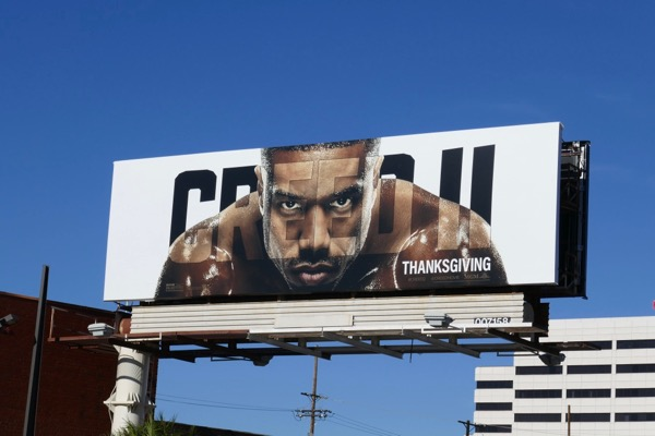 Creed II movie billboard