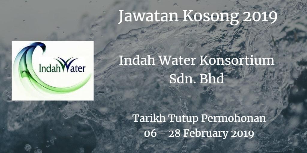 Jawatan Kosong Indah Water Konsortium Sdn. Bhd 06 - 28 February 2019
