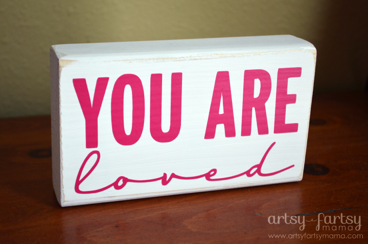You Are Loved Block with Pink Vinyl