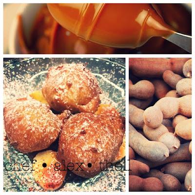 1502,60 buñuelos filled with tamarind, banana & cajeta mit tamarindenmarmelade gefüllte mini-krapfen, bananen & ziegenmilchsirup latin inspired market cuisine picture © chef alex theil.jpg