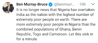 Nigerians the poorest in the world Ben Murray Bruce
