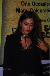 Actress Amala Paul Stills in Black Dress at South Scope Lifestyle Awards 2016 Red Carpet  0077.JPG