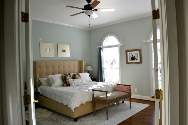 Fabulous I used chalk paint from Walmart on the guest bathroom and knobs from Hobby Lobby We replaced the ceiling fan in our room with one from Home Depot