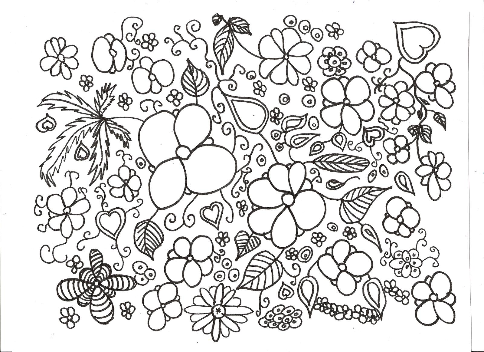 Coloriage De Fleur A Imprimer Gratuit | Liberate