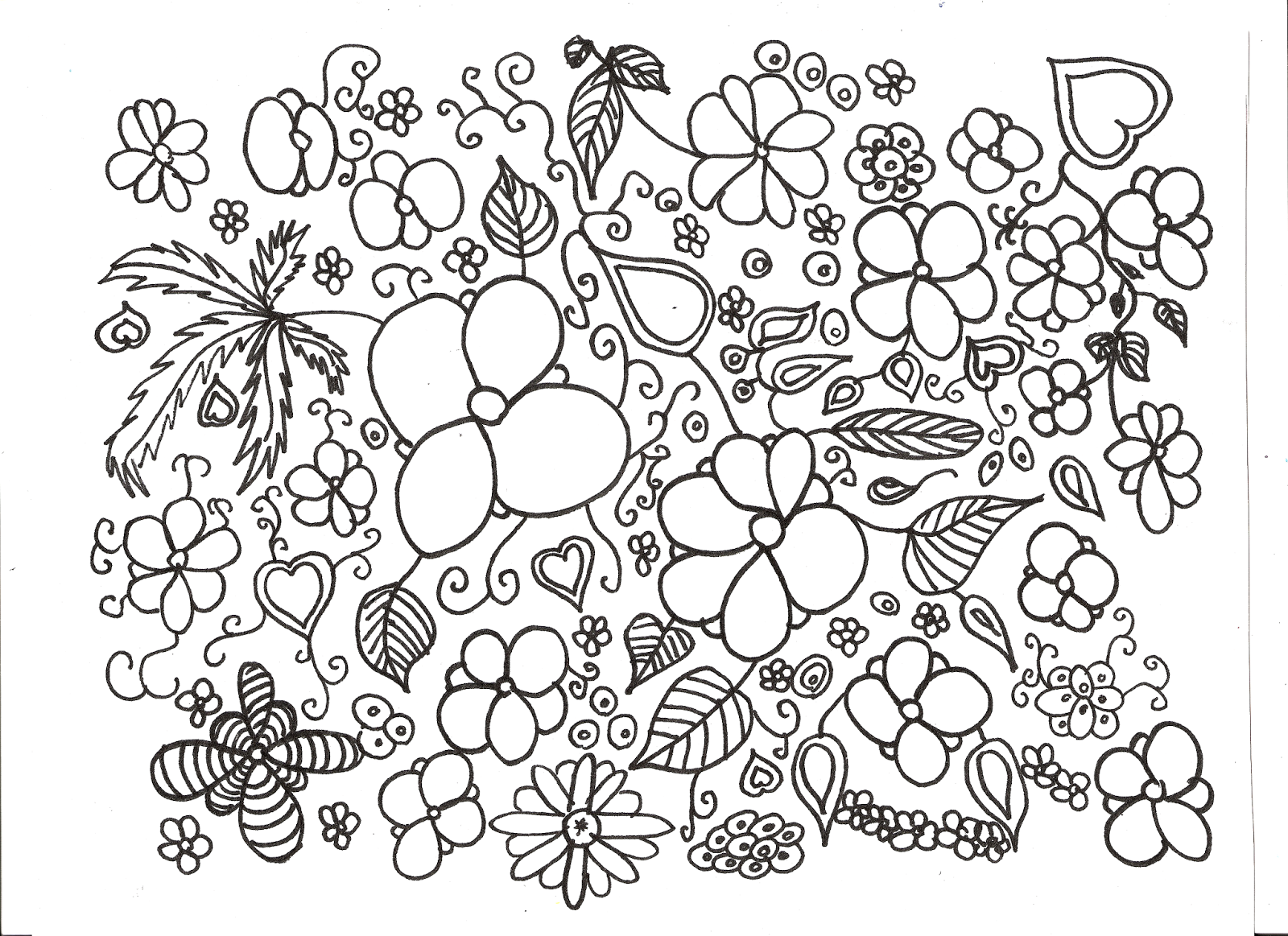 coloriage de fleur imprimer pour adulte