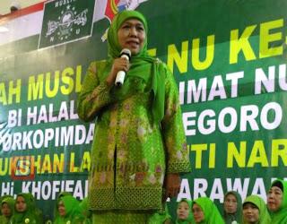 Datang Ke Bojonegoro, Khofifah Serukan Muslimat NU Jaga Terus Merah Putih