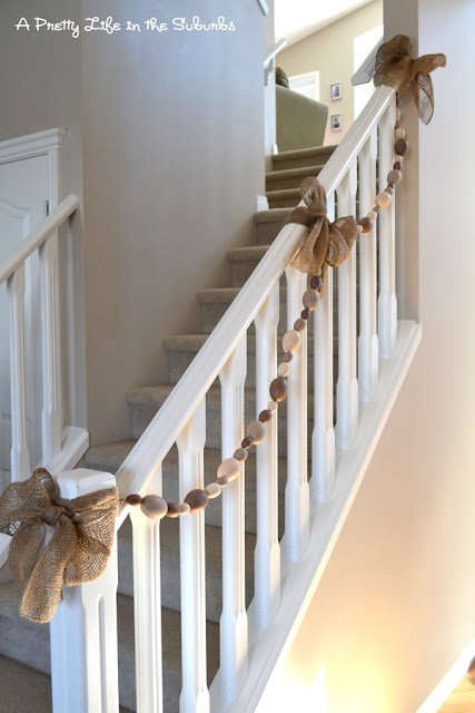 Easter Egg Garland Wrapped Staircase