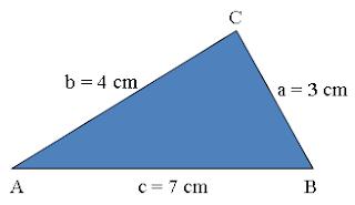 contoh soal aturan cosinus pada segitiga