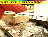 Logo Salsicce con presenza di cocciniglia in diverse catene di supermercati: ''Make up'' della salsiccia