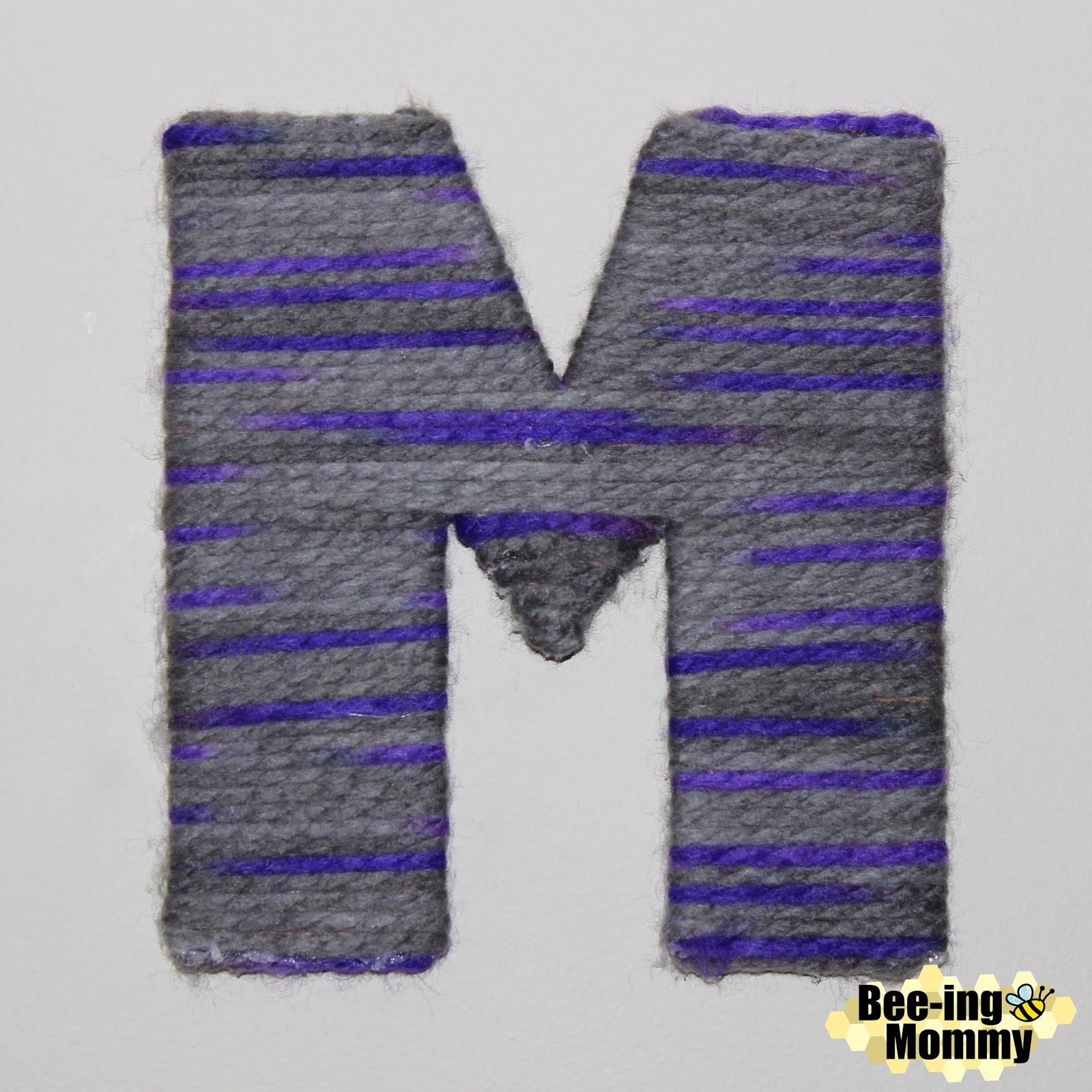Easy Yarn Monogramed Letter Wall Decor