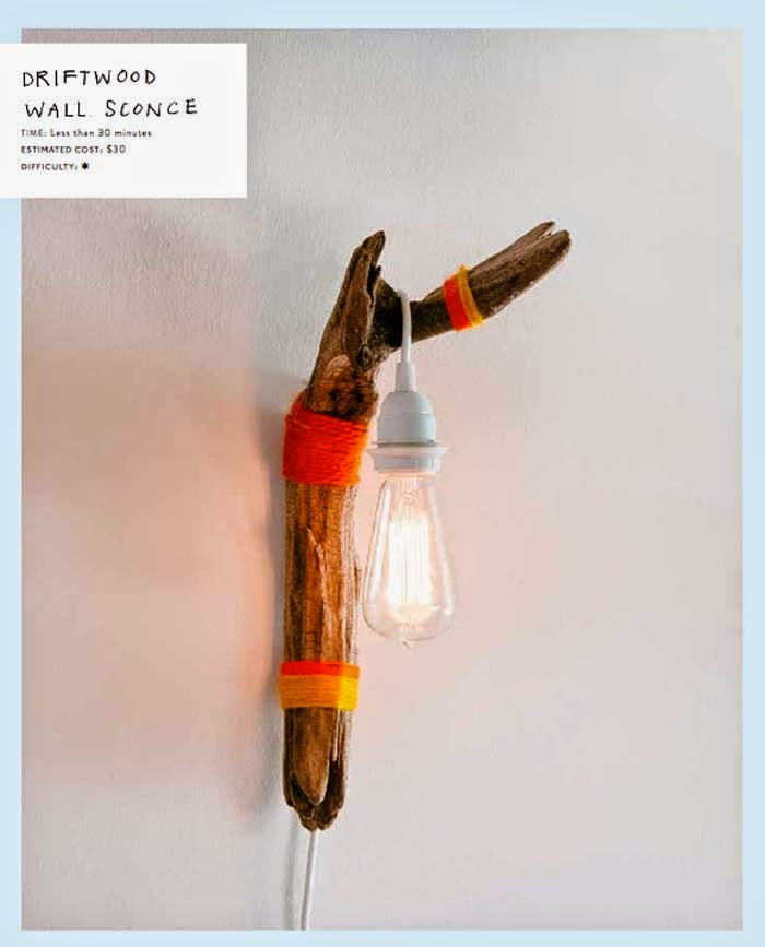 Driftwood Wall Sconce Diy The New Bohemians Poppytalk