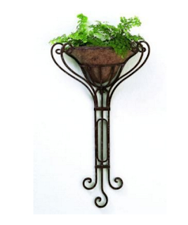 Tall Iron Wall Mounted Planter