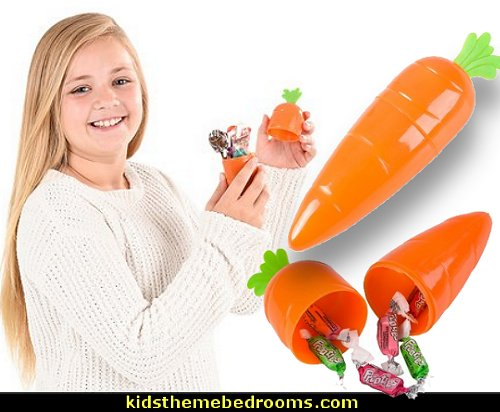 Plastic Carrot Favor Containers  Peter Rabbit party supplies - Peter Rabbit Party Ideas - Peter Rabbit Party Theme  decorations - Peter Rabbit birthday party decorations - Peter Rabbit spring garden party decorating - garden party - Carrots Chocolate Candy molds  -  Carrot cake cookie molds - flower decorations - bunny party sweets - bunny party supplies