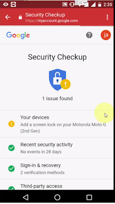 How to Fix Security Issue Found On your Google Account (Android-PC), gmail 1 Security Issue Found On your Google Account, how to secure gmail account, google account safe and secure, security error in gmail account, new security from google, how to fix google security error, 2018 google update, how to fix android gmail security issue, how to fix window pc gmail security issue, check all google activity, google dashboard, security checkup, protect google gmail, 2 setup security, make secure google account,