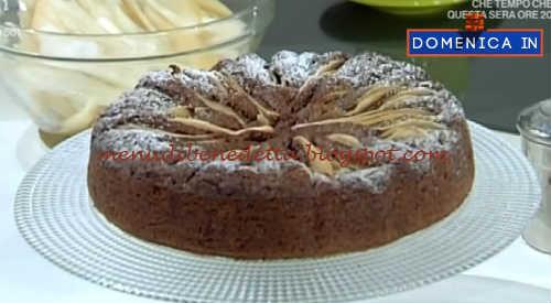 Domenica In - Torta cioccolato e pere ricetta Benedetta Parodi